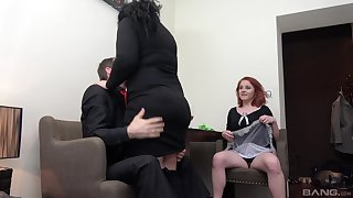 Dirty trinity fucking with two adult sluts Lucie and Anna Jelinkova