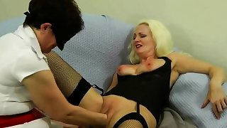 Lovely Blonde Anal Fisting Toying