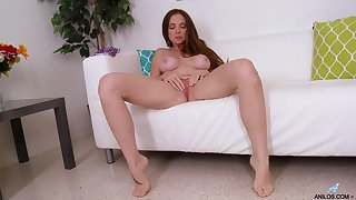 Video of busty matured Jessica Rayne having some fun with a dildo