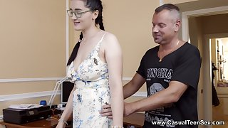Sexual delight for the honcho stepdaughter with insane skils