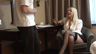 Clothed MILF gets an obstacle dick after a deleterious teaser