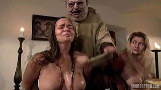 Broad in the beam BBW MILF in euro horror movie - fetish group sex hardcore