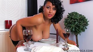Naughty wife Danica Collins loves fingering say no to pussy before diner