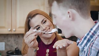 Naughty MILF Juliett Russo enjoys getting fucked by a younger man