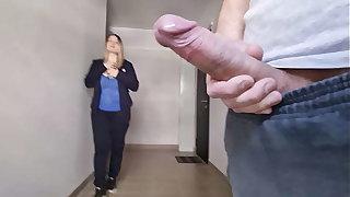 A man flashes a dick to an non-native gorgeous girl