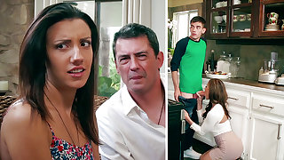 Super-Naughty Mommy deep throating enormous supplicant sausage of daughter-in-law's BEAU