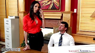 Naughty laddie Dava Fox seduces her colleague into having sex with her