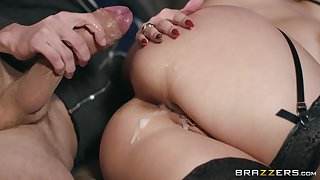 horny blonde Angel Wicky adores to fuck with her lover on the bed