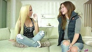 18yr Venerable Skinny German Young Girl Prankish Lesbian Sex