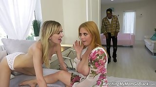 Amazing Penny Pax turns talk into marvellous interracial MFF threesome