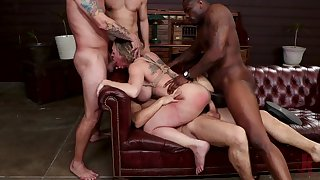 Obedient woman roughly fucked in scenes of merciless BDSM