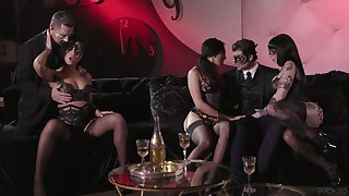 Carnival shadowy ends up with passionate group lovemaking concerning masks