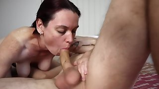 Rough BlowJob , Shaved Pussy Trample , Fucking Together with CreamPie - HotAussiePorn